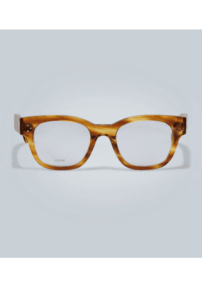 Rounded clear lense glasses