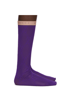 Gucci Purple GG Socks