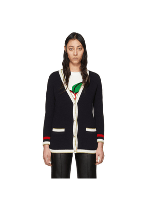 Gucci Navy Loved Cardigan