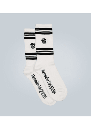 Logo cotton-blend socks