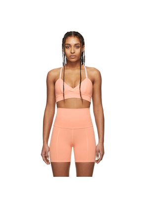 Live the Process Pink Corset Sports Bra