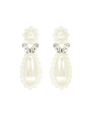 Faux-pearl earrings