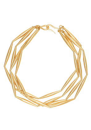 Helia 24kt gold-plated necklace