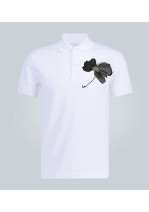 Floral embroidered polo shirt