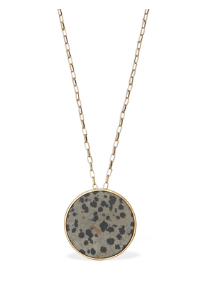 Golden Mother Long Necklace W/ Stone
