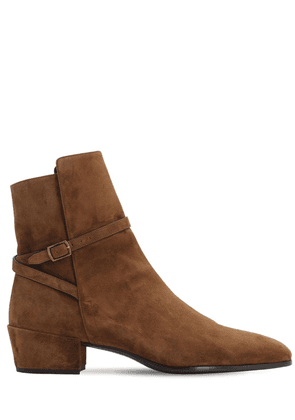 40mm Clementi Suede Boots W/ Strap
