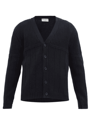 Éditions M.r - Ribbed-knit Cotton Cardigan - Mens - Navy
