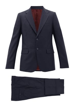 Gucci - London Single-breasted Wool-blend Suit - Mens - Navy
