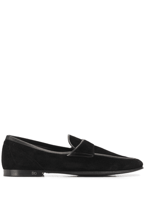 Dolce & Gabbana contrast trims loafers - Black
