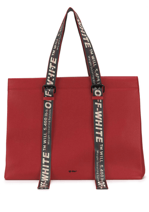 Off-White Industrial tape tote - Red