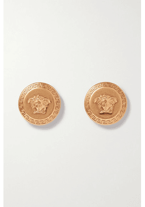 Versace - Medusa Gold-tone Earrings - one size
