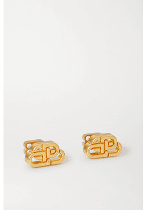 Balenciaga - Bb Gold-tone Earrings - one size