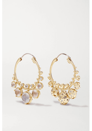 Alice Cicolini - Bubble Kimono 14-karat Gold Multi-stone Earrings - one size