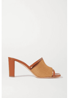 Malone Souliers - Demi Raffia And Leather Mules - Tan