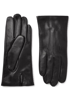 Dents - Bath Cashmere-Lined Leather Gloves - Men - Black
