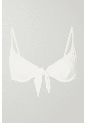 Solid & Striped - + Re/done The Nantucket Knotted Ribbed Underwired Bikini Top - Ivory