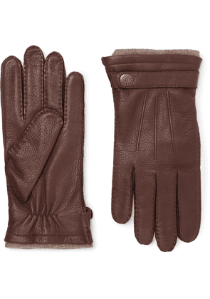 Dents - Gloucester Cashmere-Lined Leather Gloves - Men - Brown