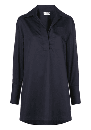 Co loose-fit open-collar blouse - Blue