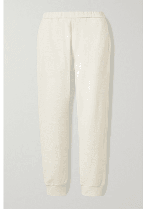 The Row - Azila Cotton And Cashmere-blend Track Pants - Cream
