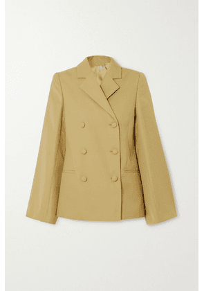 Totême - Matera Double-breasted Woven Blazer - Yellow