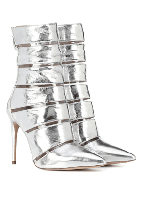 Sommer metallic leather ankle boots