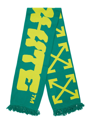 Disrupted Font Cotton Blend Scarf