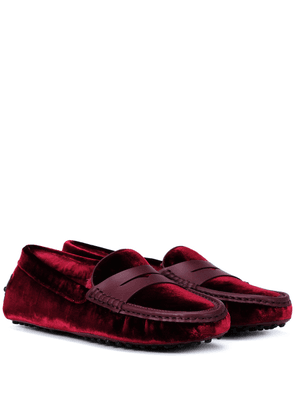 Exclusive to Mytheresa – Gommino velvet loafers
