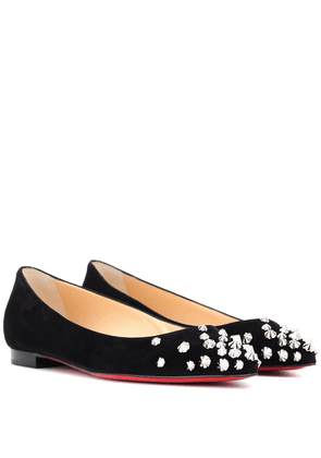 Drama studded suede ballet flats