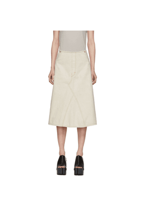 Maison Margiela Off-White Denim Skirt