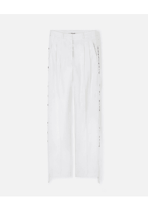 Stella McCartney White 'We are the weather' Tailored Trousers WATW capsule, Women's, Size 6