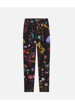 Stella McCartney Black Christine Floral Trousers, Women's, Size 14
