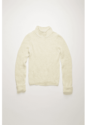 Acne Studios FN-WN-KNIT000201 Off white  Ribbed mock-neck sweater