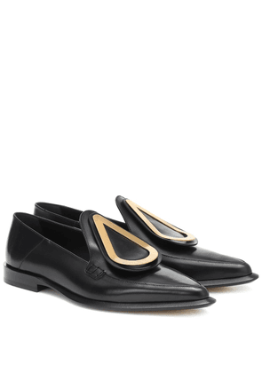 Drop leather loafers