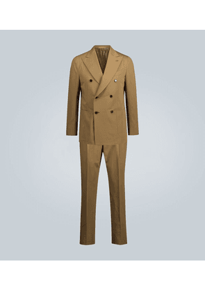 Cotton and linen-blend suit