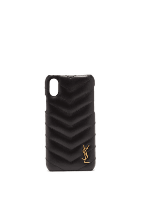 Saint Laurent - Ysl-monogram Quilted-leather Iphone® Xs Case - Womens - Black