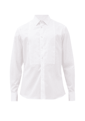 Burberry - Crystal-embellished Cotton-poplin Tuxedo Shirt - Mens - White