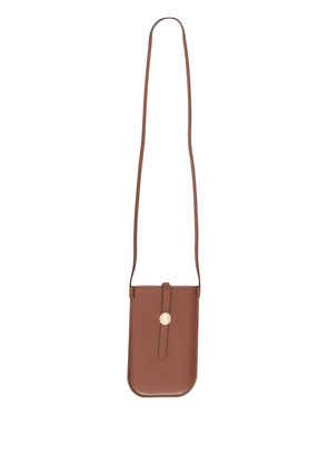 Burberry leather crossbody phone case - Brown