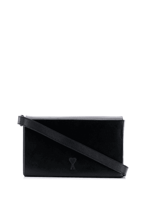 Ami Paris embossed logo box bag - Black