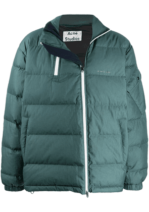 Acne Studios double-zip down jacket - Green