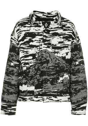 Marcelo Burlon County Of Milan all-over print shirt jacket - Black