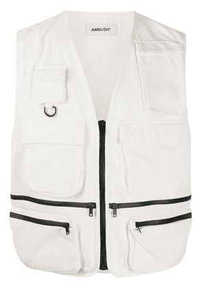 AMBUSH padded military vest - White
