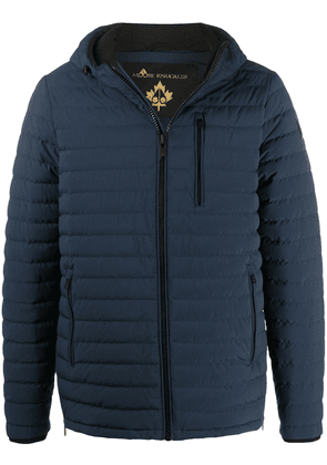 Moose Knuckles Jigger hooded down jacket - Blue
