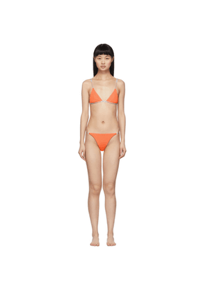 Heron Preston Orange Triangle Bikini