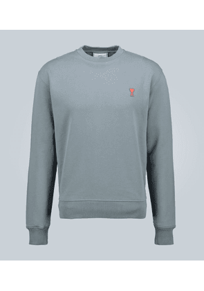 Crewneck cotton logo sweatshirt