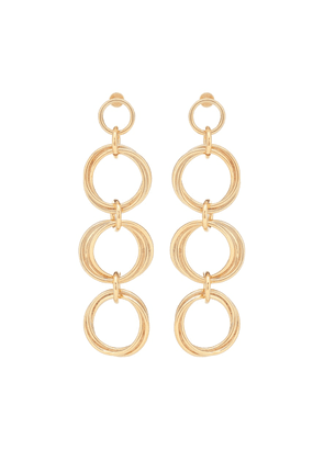 Lime 24kt gold-plated drop earrings