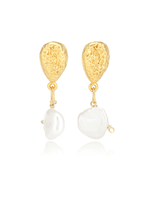 Exclusive to Mytheresa – The Late Night Twinkling 24kt gold-plated earrings with pearls