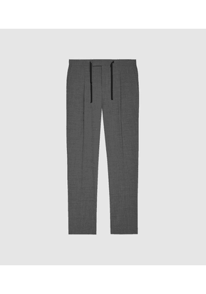 Reiss Baton - Pleat Front Slim Fit Trousers in Grey, Mens, Size 28