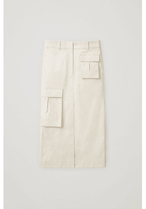COTTON SKIRT WITH PATCH POCKETS