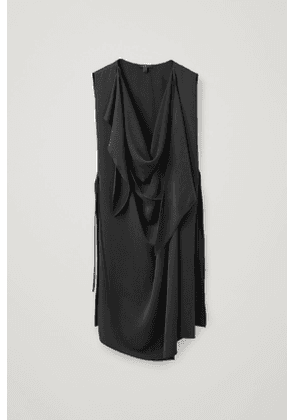 CUPRO TABARD WITH NECK-TIE