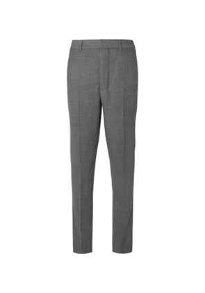 AMI - Grey Slim-fit Tapered Virgin Wool Suit Trousers - Gray